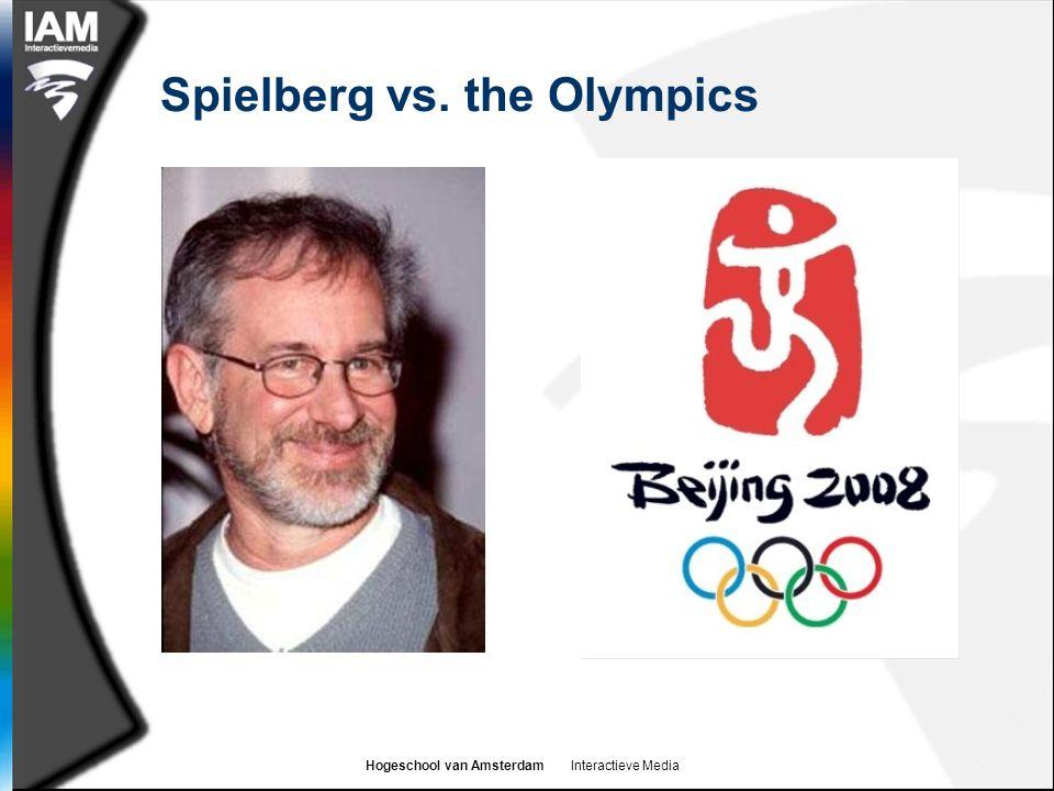 Hogeschool van Amsterdam Interactieve Media Spielberg vs. the Olympics