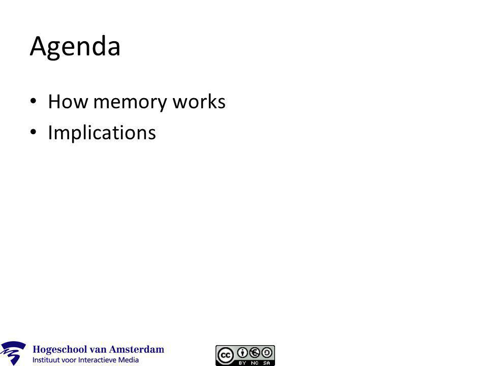 Agenda How memory works Implications