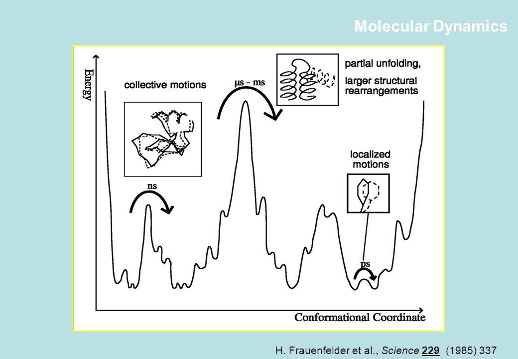 Molecular Dynamics H. Frauenfelder et al., Science 229 (1985) 337