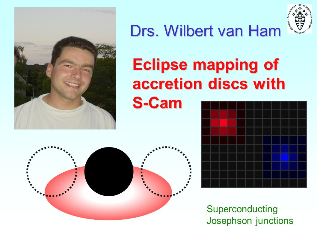 Drs. Wilbert van Ham Eclipse mapping of accretion discs with S-Cam Superconducting Josephson junctions