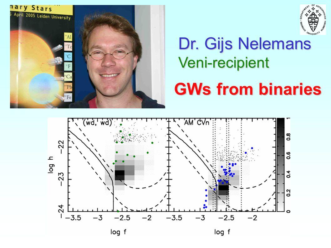 GWs from binaries Dr. Gijs Nelemans Veni-recipient