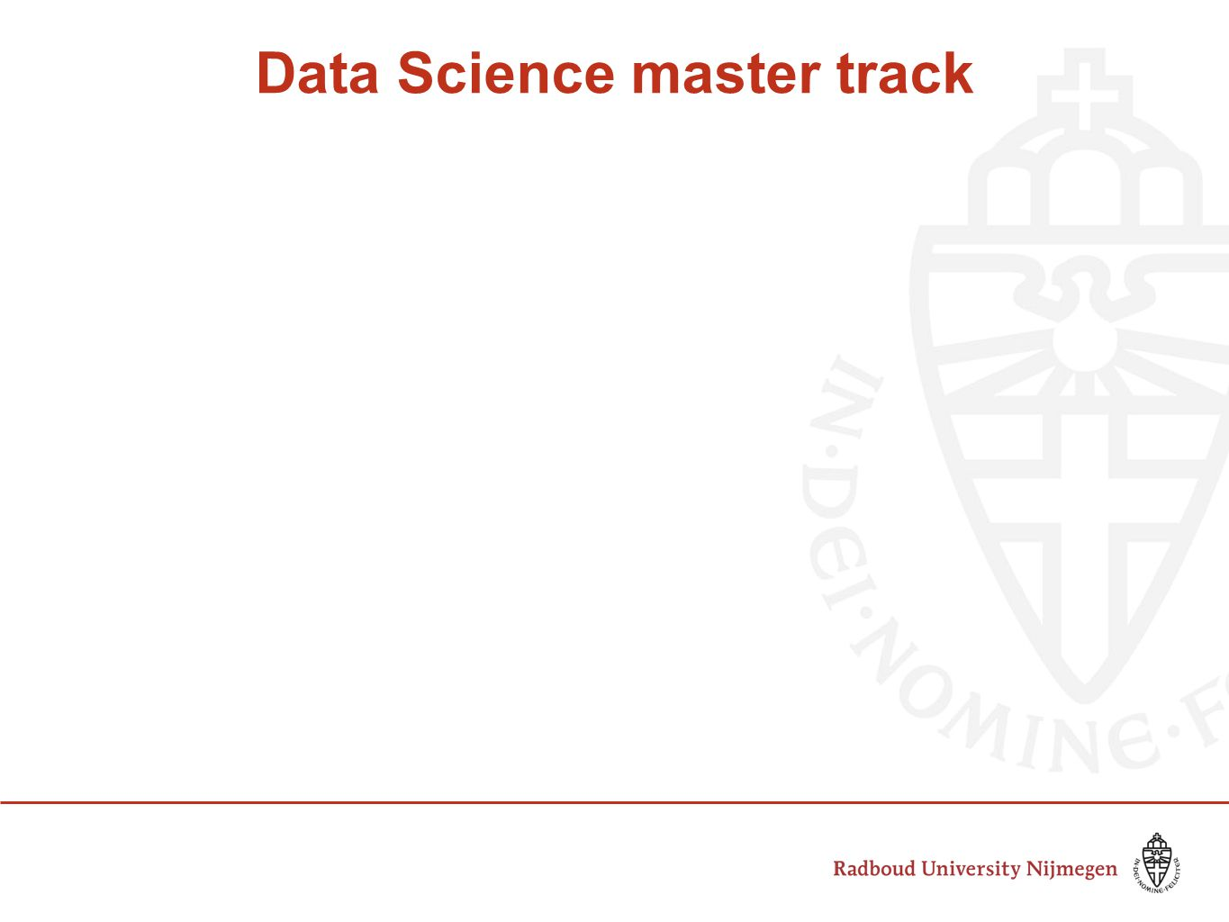 Data Science master track