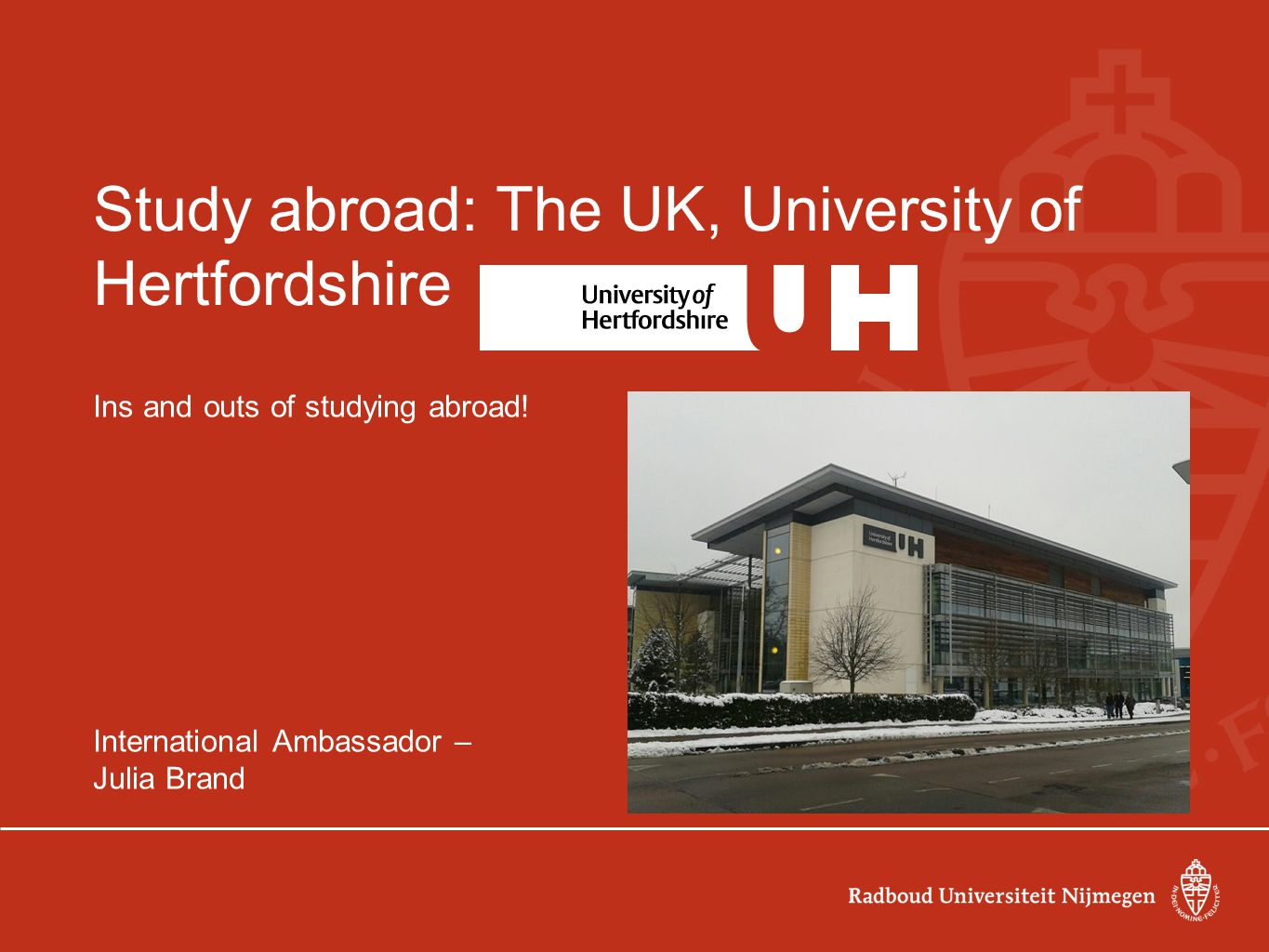 Study abroad: How I started-up o - Visit the 'want to go abroad' week (WilWegWeek) ?Going abroad.