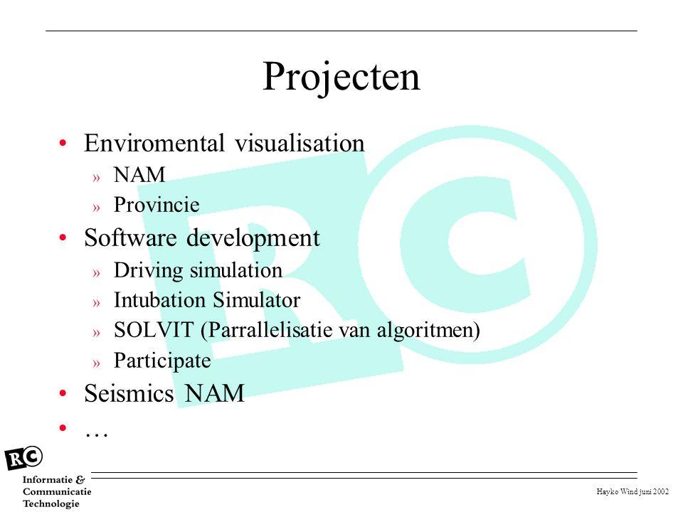 Hayko Wind juni 2002 Projecten Enviromental visualisation » NAM » Provincie Software development » Driving simulation » Intubation Simulator » SOLVIT