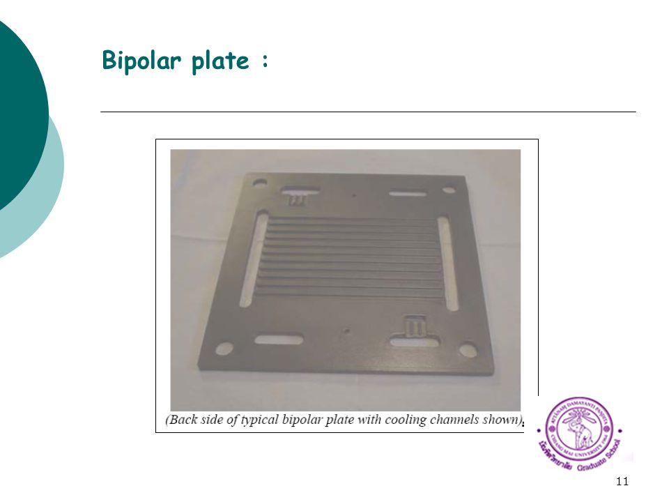 11 Bipolar plate :