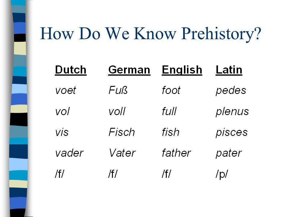 How Do We Know Prehistory