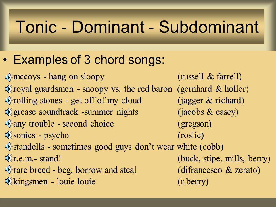 Schema's in Rock 'n' Roll Blues; Country, Folk en Rock 'n' Roll -en later ook Beat en Punk- maken vaak gebruik van dezelfde eenvoudige akkoordenschema's.