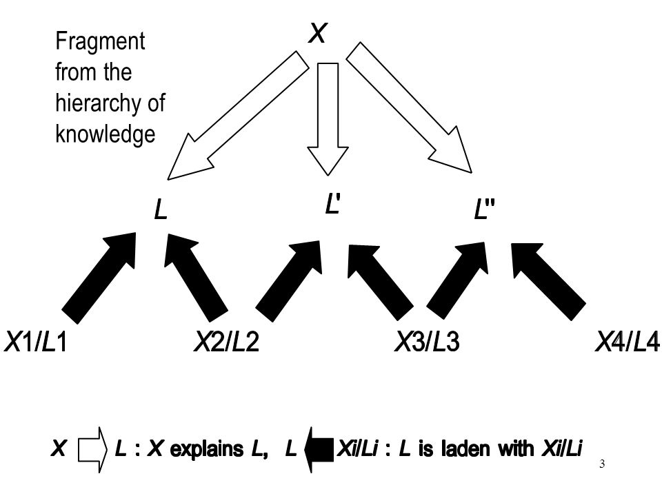4 Classification of observations in relation to theory X