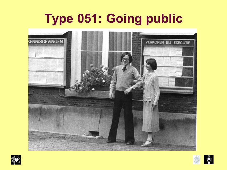 Type 051: Going public