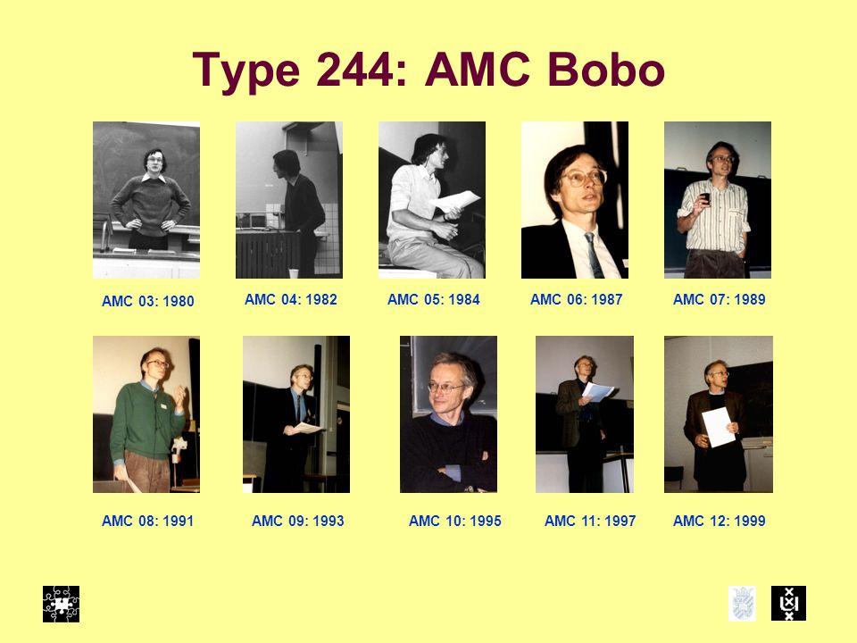 Type 244: AMC Bobo AMC 03: 1980 AMC 04: 1982 AMC 11: 1997AMC 10: 1995AMC 09: 1993AMC 08: 1991 AMC 07: 1989AMC 06: 1987AMC 05: 1984 AMC 12: 1999
