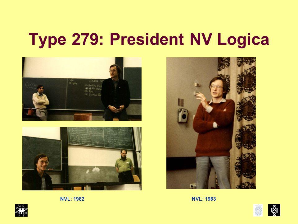 Type 279: President NV Logica NVL: 1982NVL: 1983