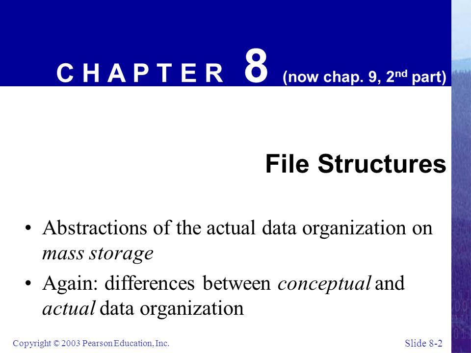 Slide 8-23 Copyright © 2003 Pearson Education, Inc.