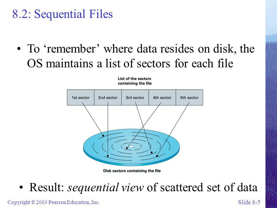 Slide 8-6 Copyright © 2003 Pearson Education, Inc.