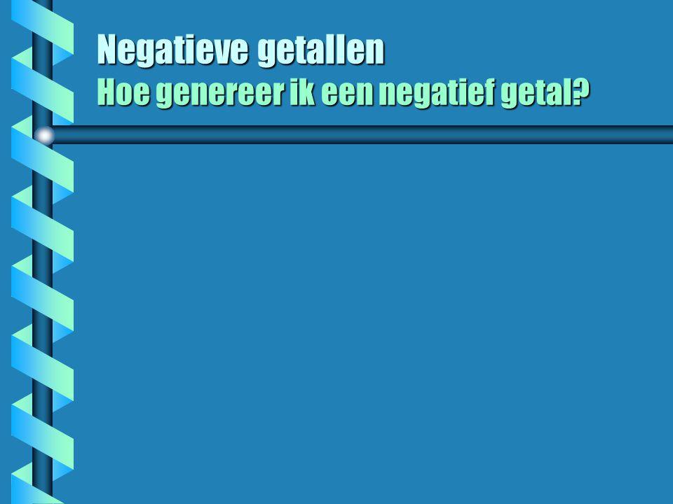 Negatieve getallen Hoe genereer ik een negatief getal?