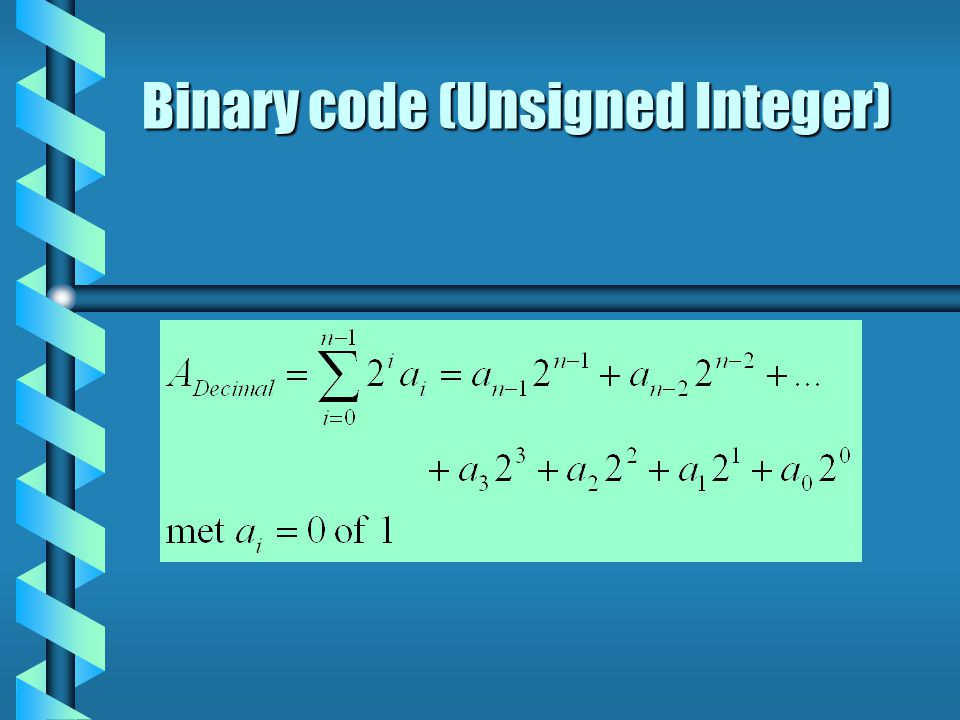 Binary code (Unsigned Integer)