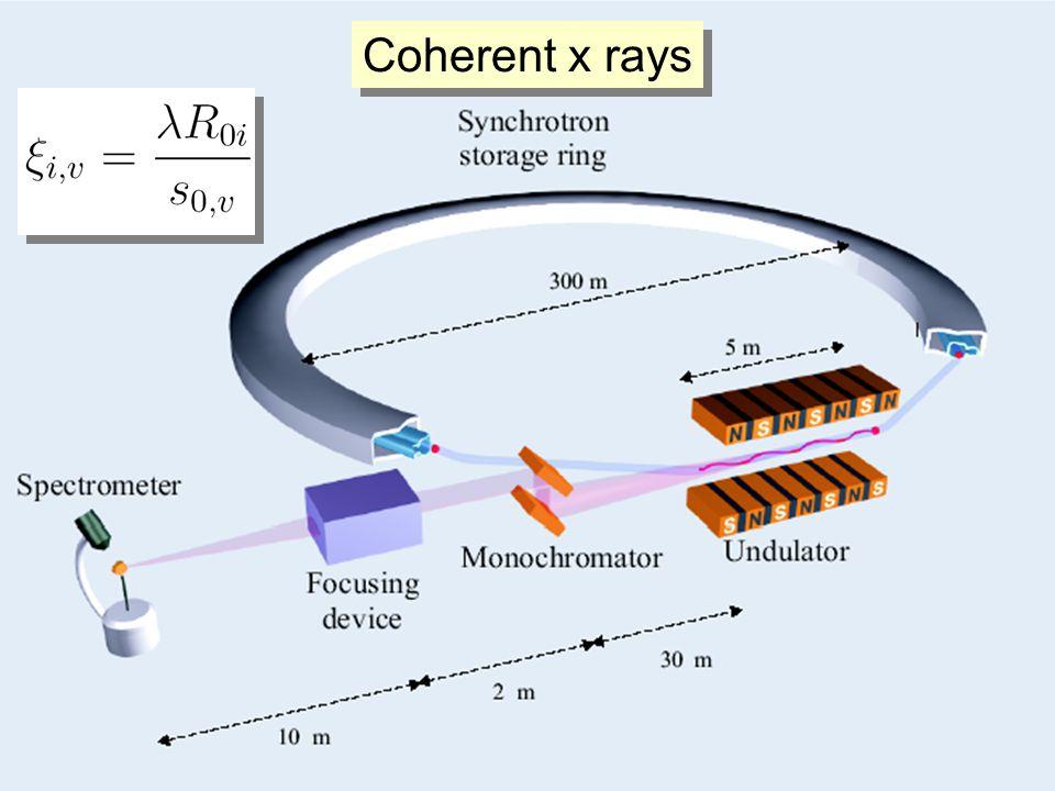 Coherent x rays
