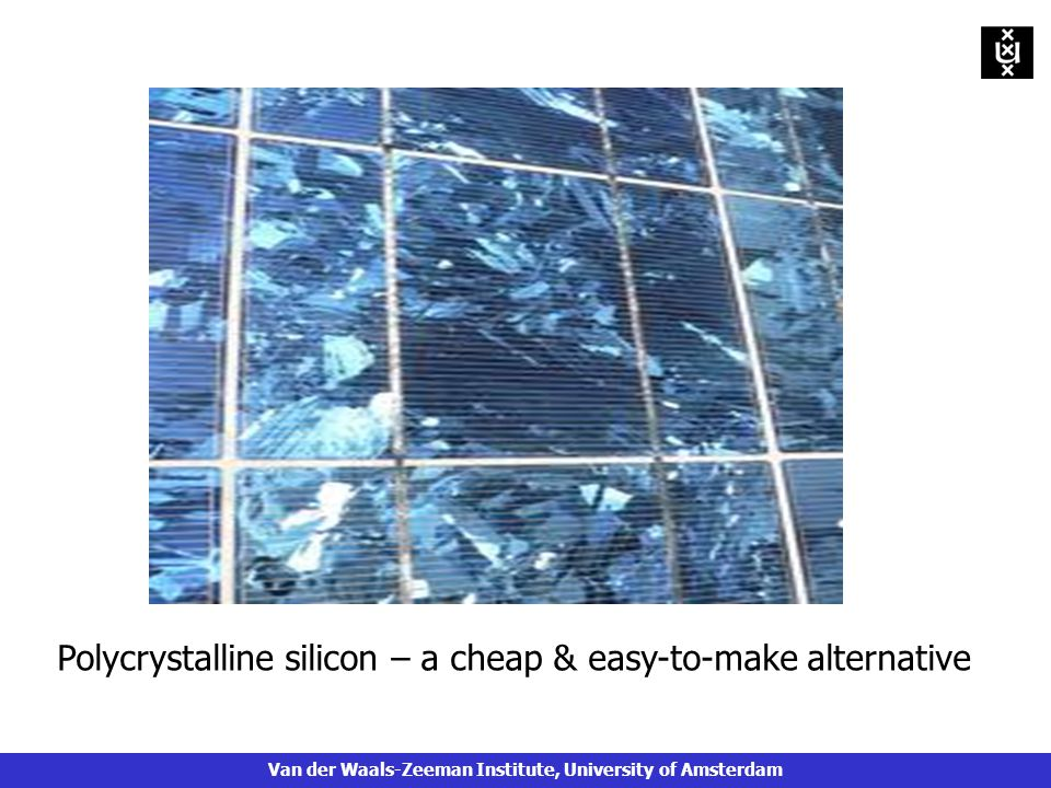 Polycrystalline silicon – a cheap & easy-to-make alternative