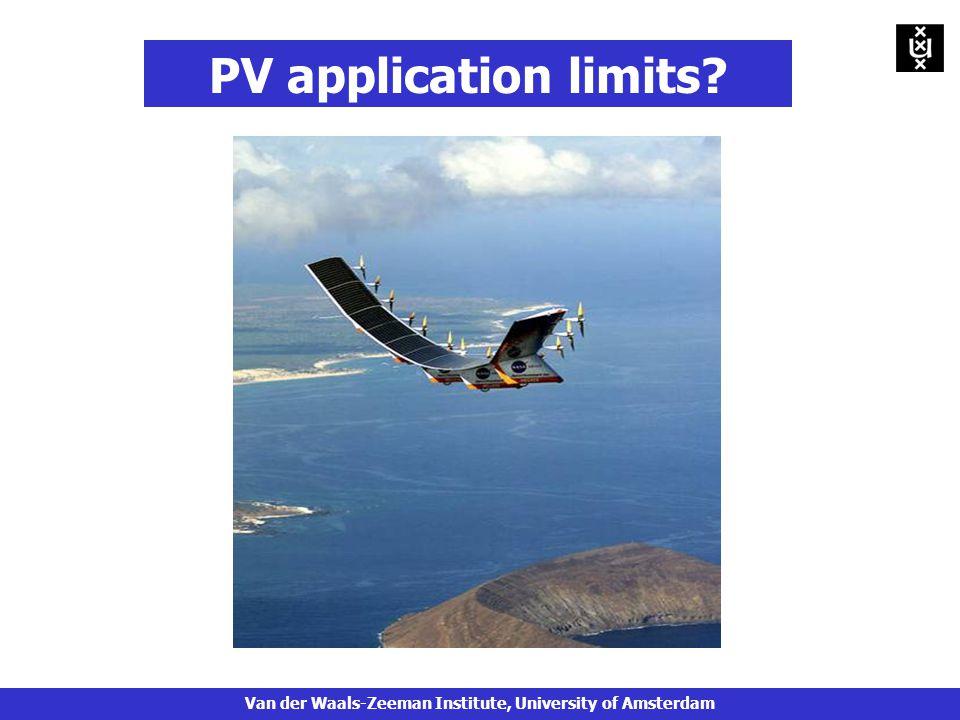 PV application limits Van der Waals-Zeeman Institute, University of Amsterdam