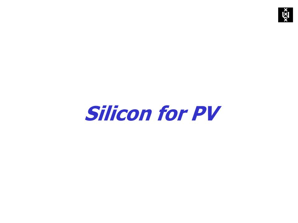 Silicon for PV