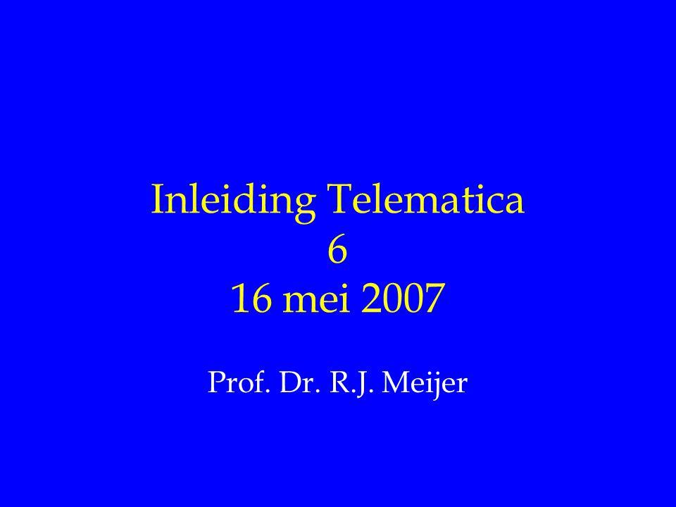 Inleiding Telematica 6 16 mei 2007 Prof. Dr. R.J. Meijer