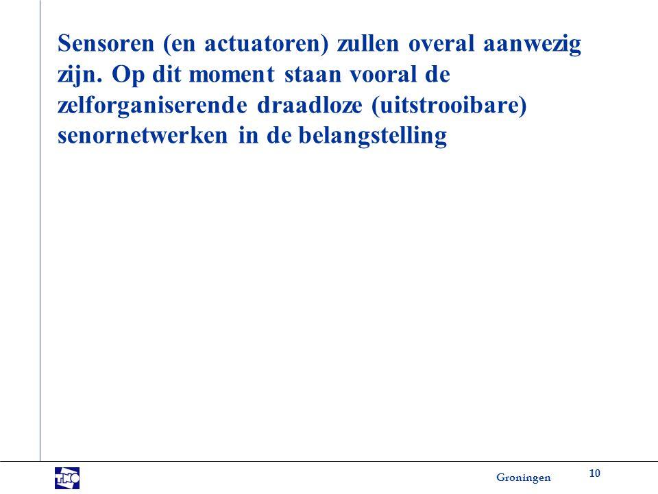 Groningen Sensoren (en actuatoren) zullen overal aanwezig zijn.