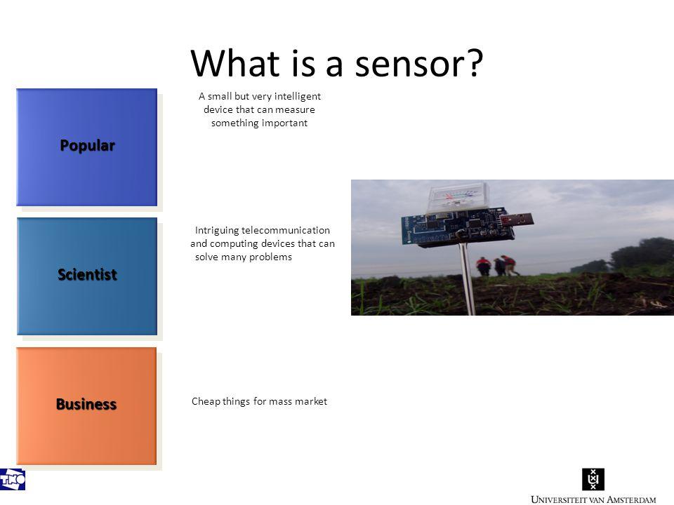 What is a sensor.