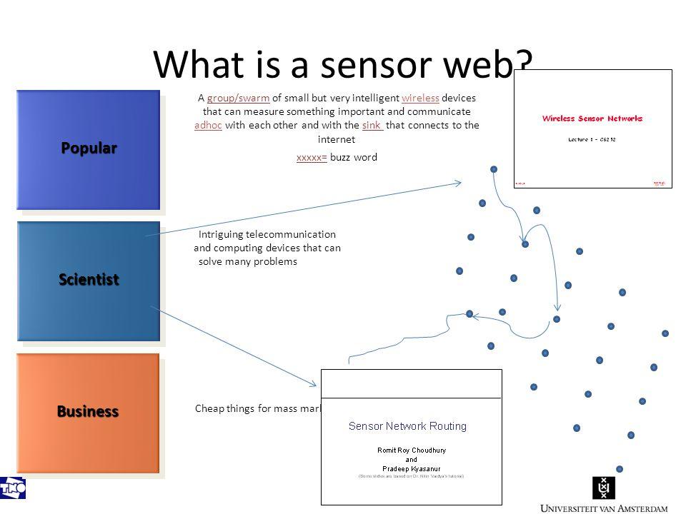 What is a sensor web.