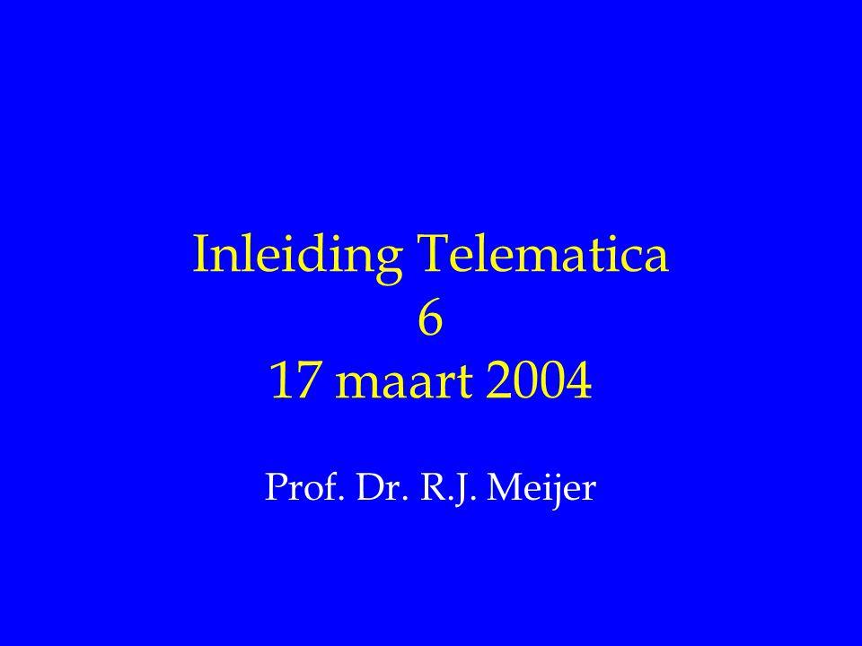 Inleiding Telematica 6 17 maart 2004 Prof. Dr. R.J. Meijer