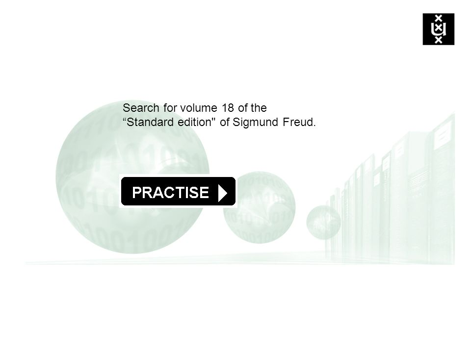 Search for volume 18 of the Standard edition of Sigmund Freud.