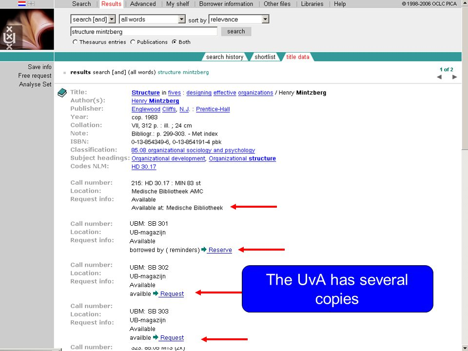 Summary Use all words and enter author name and words from the title for a quick search Use Advanced for a more precise search with various search fields In Advanced you can limit your search to publication year or time span
