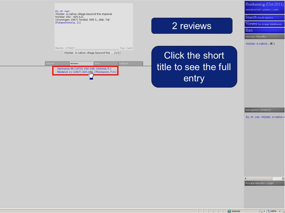 The review Click the journal acronym to see the full journal title