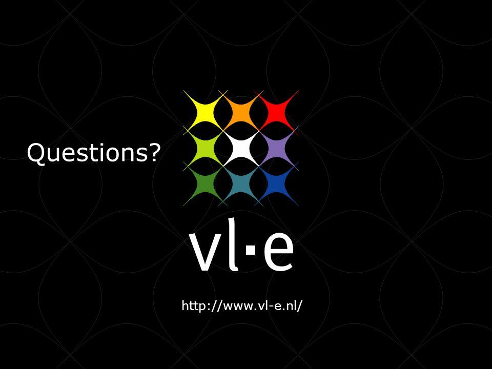 http://www.vl-e.nl/ Questions