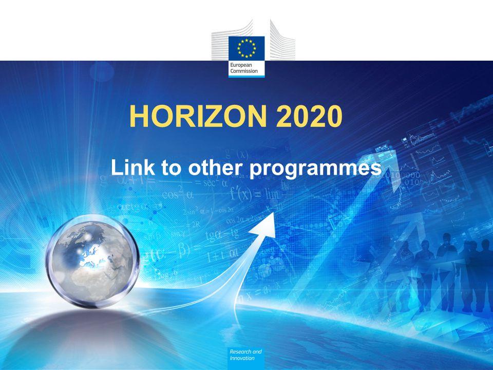 HORIZON 2020 Link to other programmes