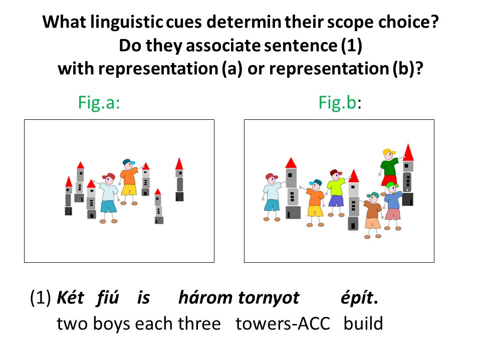 What linguistic cues determin their scope choice.