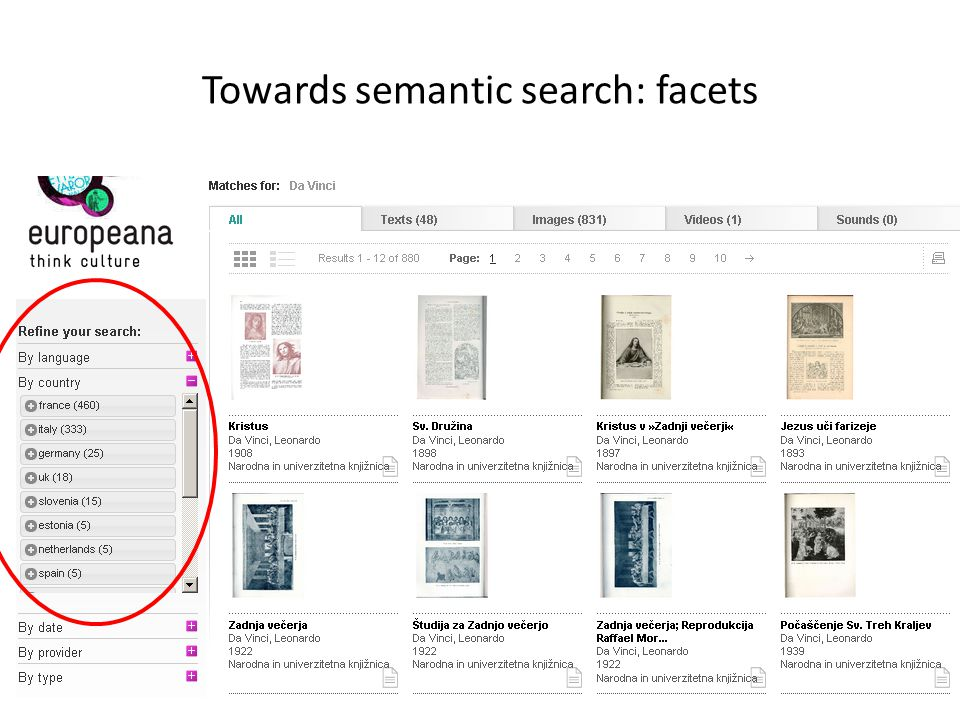Towards semantic search: facets