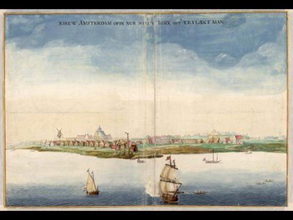 Peter Stuyvesant's agreement to hand New Amsterdam over to the British. 1664