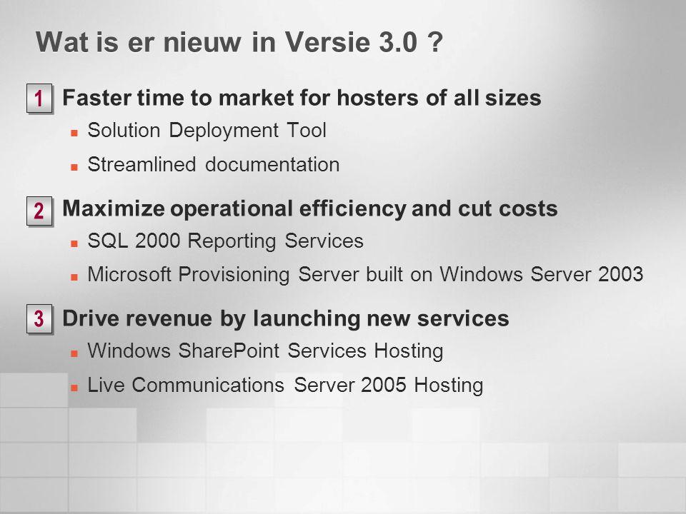 Wat is er nieuw in Versie 3.0 .