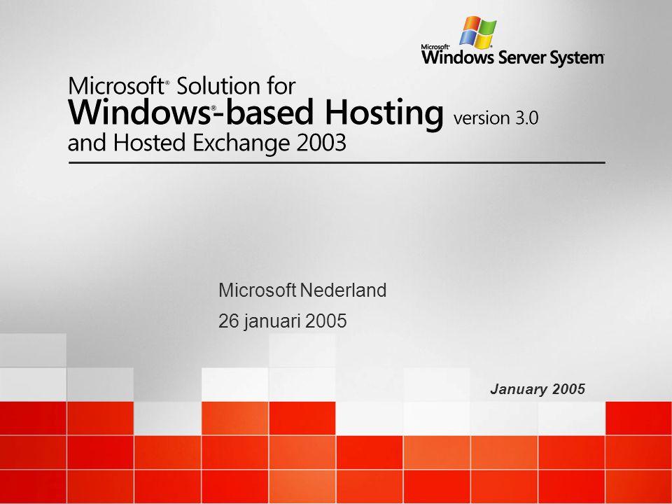 January 2005 Microsoft Nederland 26 januari 2005