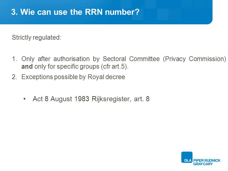 3. Wie can use the RRN number.
