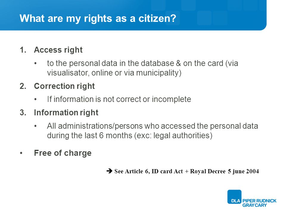 What are my rights as a citizen.