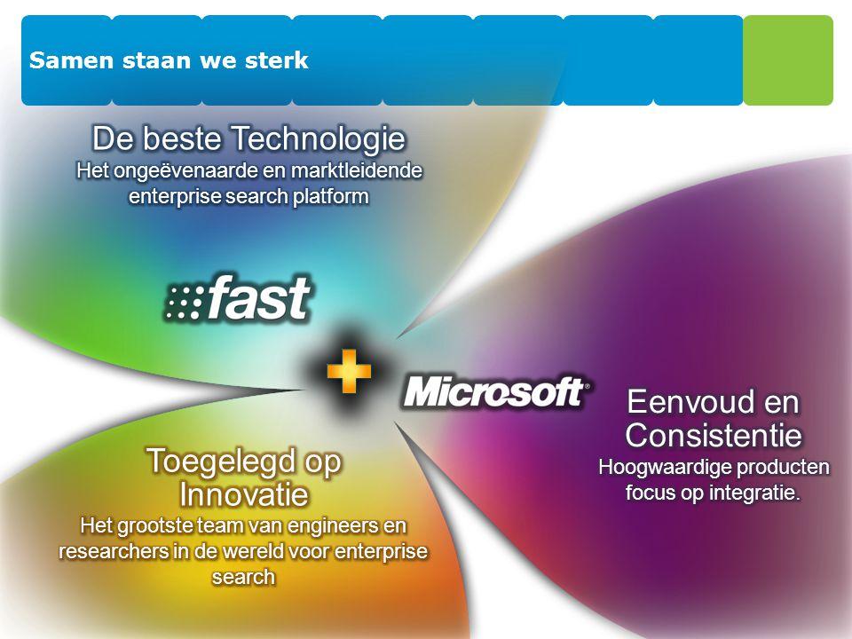 Microsoft in het Leaders Quadrant The Magic Quadrant is copyrighted September 2008 by Gartner, Inc.