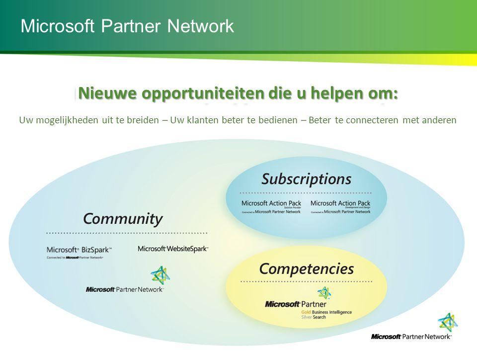 Microsoft Partner Network Nieuwe opportuniteiten die u helpen om:
