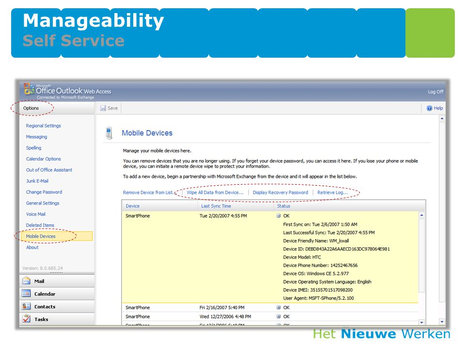 Manageability Self Service