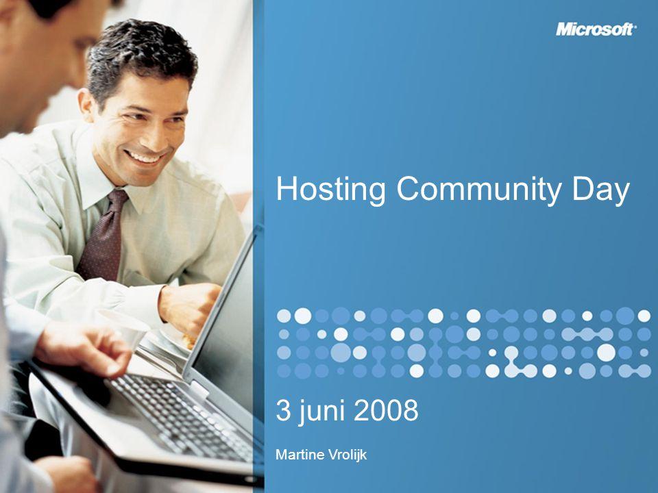 Hosting Community Day 3 juni 2008 Martine Vrolijk
