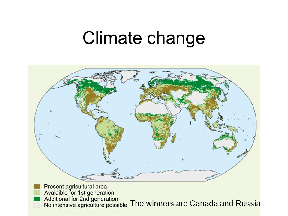 Climate change The winners are Canada and Russia