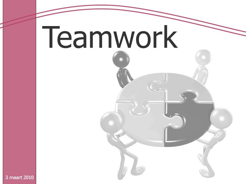 Teamwork 3 maart 2010