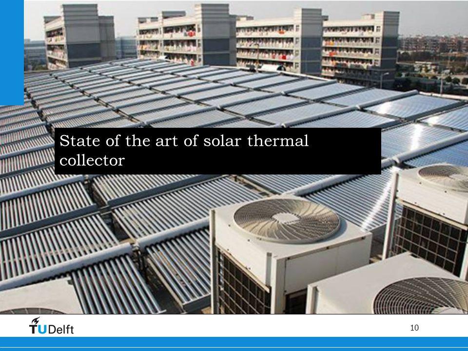 10 Titel van de presentatie State of the art of solar thermal collector