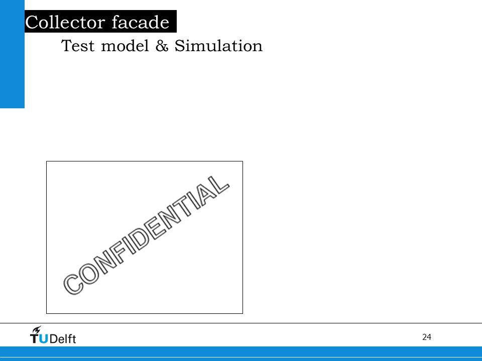 24 Titel van de presentatie Collector facade Test model & Simulation