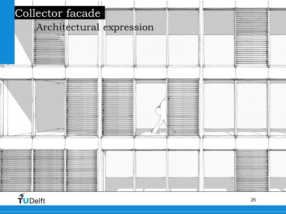 26 Titel van de presentatie Collector facade Architectural expression
