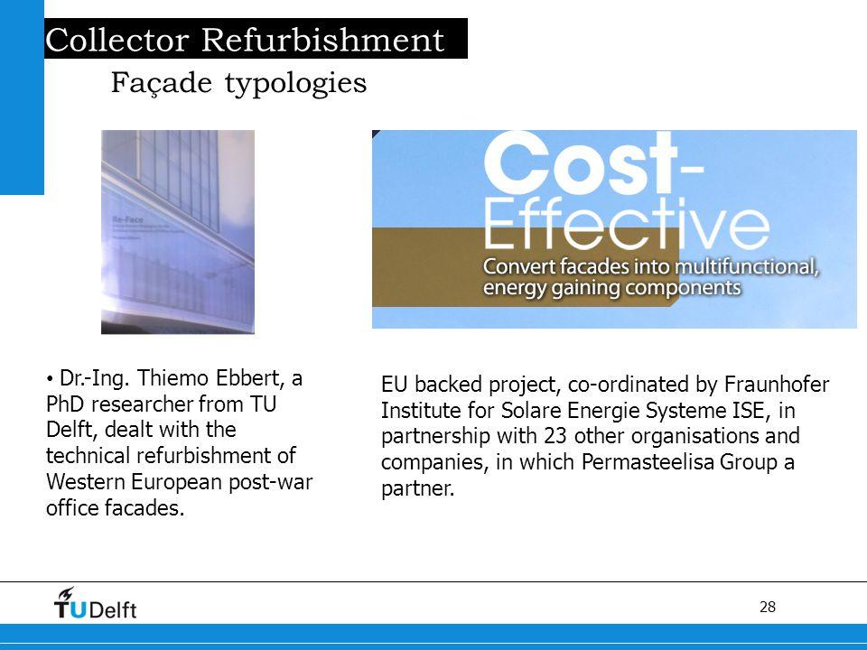 28 Titel van de presentatie Collector Refurbishment Façade typologies Dr.-Ing.